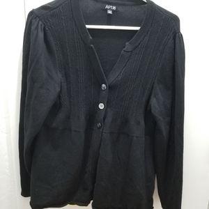 Apt 9 black Cardigan size PXL